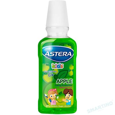 Apa de gura ASTERA Kids Apple 300 ml