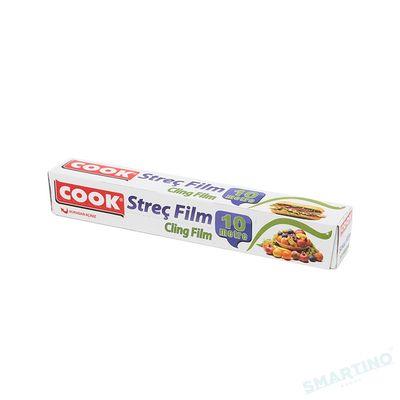 Pelicula alimente stretch COOK, Transparenta, Cutie, cu Cutit 30cm*10m