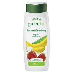 Crema de dus GREEN LINE YOGHURT Banana&Strawberry 400ml