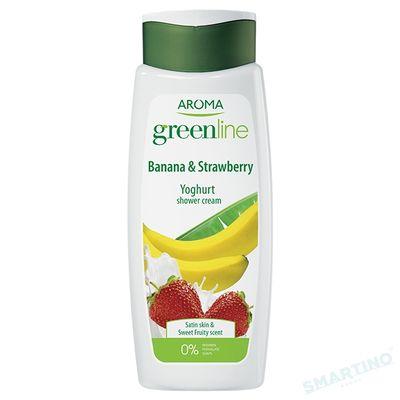 Crema de dus GREEN LINE YOGHURT Banana&Strawberry 400ml