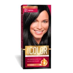 Vopsea pentru par AROMA Color 01 (negru) 45 ml