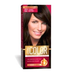 Vopsea pentru par AROMA Color 02 (castaniu inchis) 45 ml