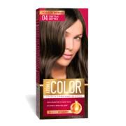 Vopsea pentru par AROMA Color 04 (castaniu deschis)  45 ml