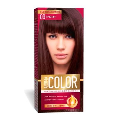 Vopsea pentru par AROMA Color 09 (burgundi rosu) 45 ml