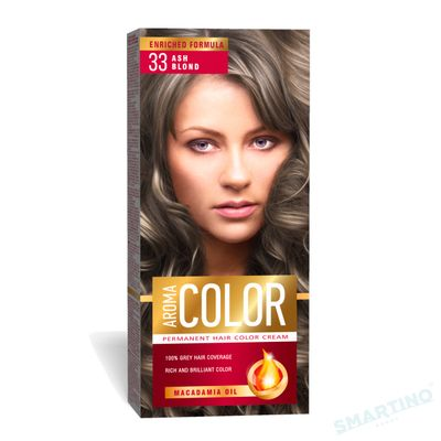 Vopsea pentru par AROMA Color 33 (blond cenusiu) 45 ml