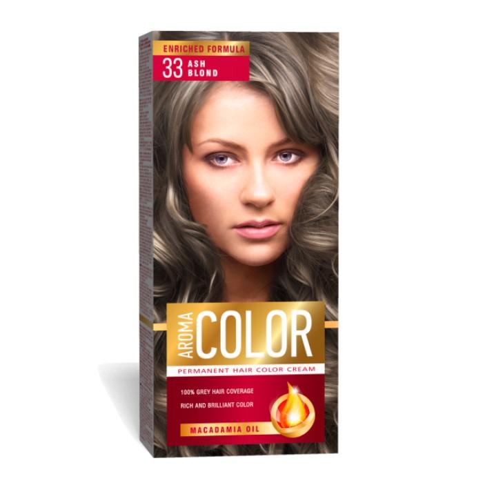 Vopsea Pentru Par Aroma Color 33 Blond Cenusiu 45 Ml
