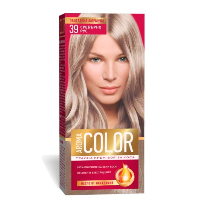 Vopsea Pentru Par Aroma Color 39 Blond Argintiu 45 Ml