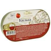 "Gingirică afumată în sos de tomate 190gr ""Amberfish"" cheie"