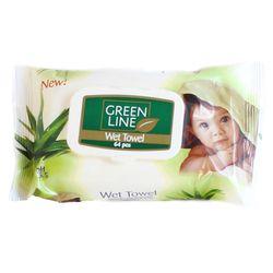 Servetele umede GREEN LINE 64 Aloe Vera cu capac