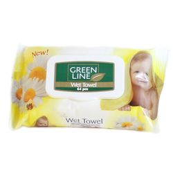 Servetele umede GREEN LINE 64 Chamomile cu capac