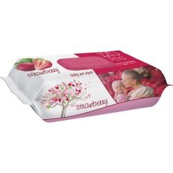 Влажные салфетки SLEEPY 120 Strawberry пластиковая крышка