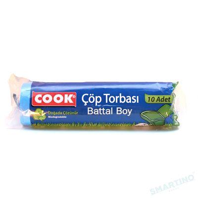 COOK Saci pentru gunoi biodegradabili 75cm*90cm  70 L 10 buc