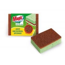 Губка Magic Clean Premium для чистки посуды антибактериальная 2шт/комплект