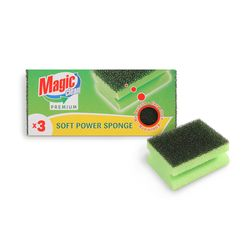 Burete Magic Clean Premium pentru vase Soft  Power 3buc/set