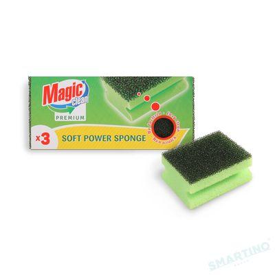 Burete Magic Clean Premium pentru vase Soft  Power 3buc/set
