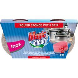 Губка  Magic Clean для чистки посуды Inox 2шт/комплект