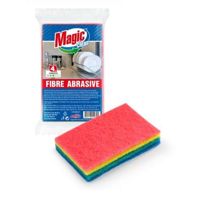 Laveta Magic Clean fibra abraziva 4buc/set