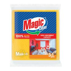 Laveta Magic Clean viscosa 34*35cm 3+1buc/set