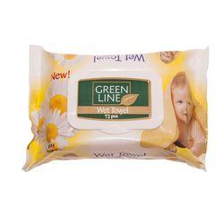 Servetele umede GREEN LINE 72 Chamomile cu capac