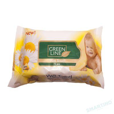 Servetele umede GREEN LINE 72 Chamomile