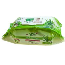 Servetele umede GREEN LINE 120 Aloe Vera cu capac