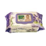 Servetele umede GREEN LINE 120 Lavender cu capac