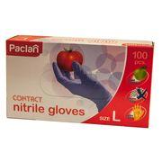 Manusi nitril Paclan Contact Nitrile Gloves - 100buc, mărime L