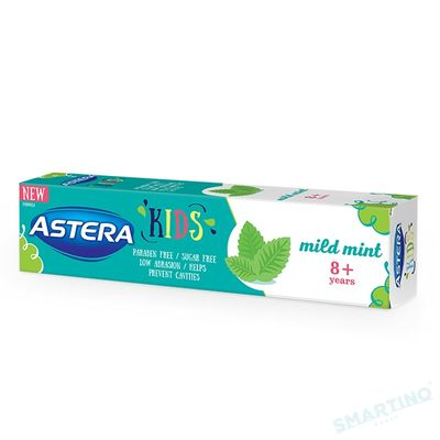 Pasta de dinti ASTERA KIDS Mild Mint 50ml 8+ ani