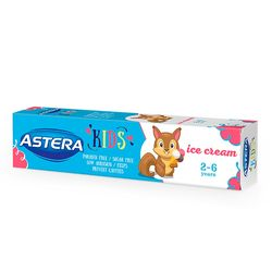 Pasta de dinti ASTERA KIDS Ice Cream 50ml 2-6 ani