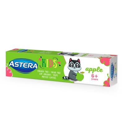 Pasta de dinti ASTERA KIDS Apple 50ml 6+ ani