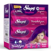 Servetele umede SLEEPY Sensitive Bumbac 4x40bucati Cutie