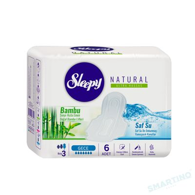 Absorbante Sleepy Natural Night 320mm 6 buc