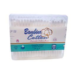 Betisoare igienice de bumbac caseta patrata Bambino Cotton 200buc