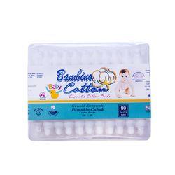 Betisoare igienice de bumbac cu opritor Baby Bambino Cotton 90buc