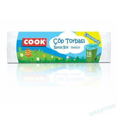 Saci pentru gunoi COOK Ekonomik 75cm*90cm 10 buc 70 L