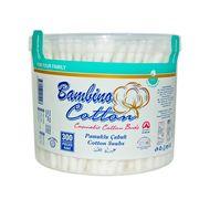 Betisoare igienice caseta rotunda Bambino Cotton 300buc