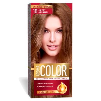 Vopsea pentru par AROMA Color 16 (caramel deschis) 45 ml