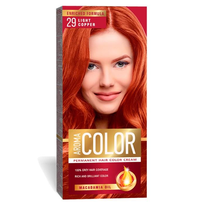 Vopsea Pentru Par Aroma Color 29 Aramiu Deschis 45 Ml