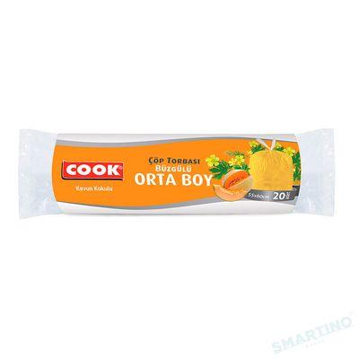 Saci pentru gunoi cu siret COOK Economik 55*60cm 20buc 30 L Melon