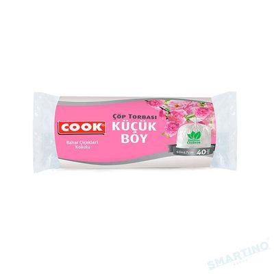 Saci menajeri parfumati biodegradabili COOK Flowers S-20L 40 buc