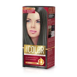Vopsea pentru par AROMA Color 21 (Argintiu intens) 45 ml