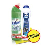 KALYON WC Dezinfectant 750ml Spring Breeze + KALYON Crema curatare 770gr AMMONIA