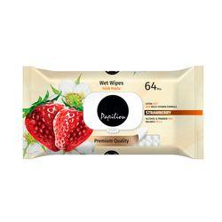Servetele umede PAPILION 64 Strawberry cu capac