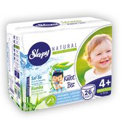 Scutece Chilotel Sleepy Natural Ultra Sensitive 4+ Maxi Plus, 9-16kg, 26 bucati + Cadou Servetele