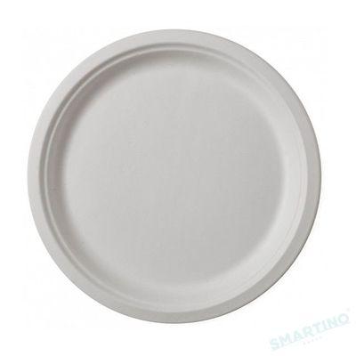 Farfurie rotunda de unica folosinta , 22 cm, 100% Biodegradabila si Compostabila, 50 buc/set