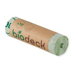 Saci menajeri Biodeck, 50L, 100% Biodegradabili si Compostabili, 10 buc/rola