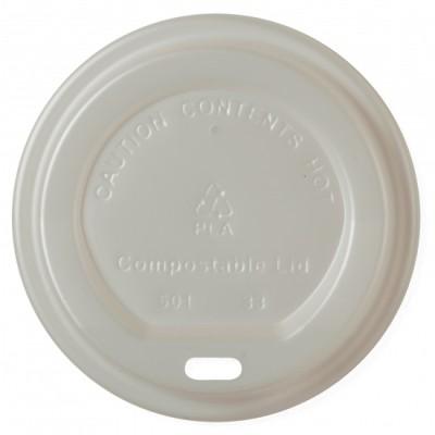 Capace Bio Bauturi Calde 80mm, 100% Biodegradabile si Compostabile, 50buc/set