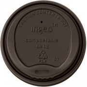 Capace Negre Bio Bauturi Calde 80mm, 100% Biodegradabile si Compostabile, 50buc/set