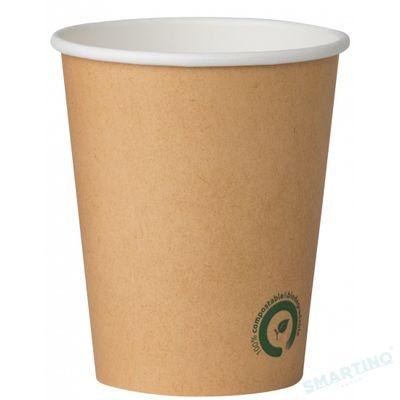 Pahare de unica folosinta Kraft 240ml, Biodegradabile si Compostabile, 50buc/set din Amidon de porumb