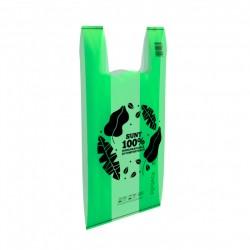 Биоразлагаемые зеленые пакеты Biodeck Средние 4 кг 50шт / комплект